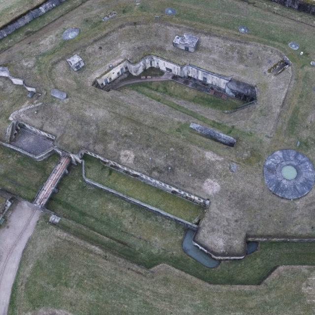 Modèle 3D Fort de Uxegney Lorraine AeroMapping Solutions
